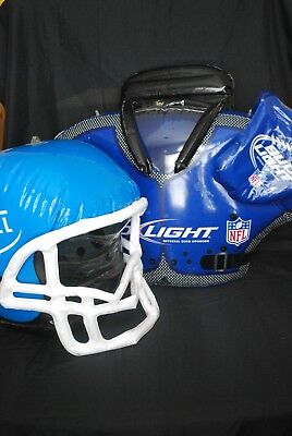 inflatable football helmet and shoulder pad from Miller and Bud Light.