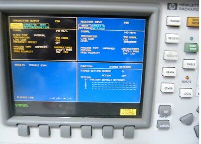 HP Agilent 37717C  OmniBER 717 Communications Analyzer