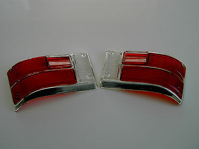 back light Glases  in red with chome finish  only as set Opel Kadett B