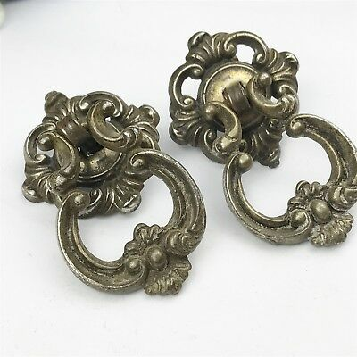 Victorian C&a Reclaimed Antique Pair Of Draw-Cabinet Door Pull Knob Handles