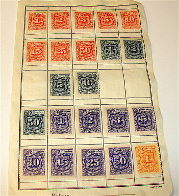 El Salvador----lot of 22 Antique Stamps-----Photos for All----free ship