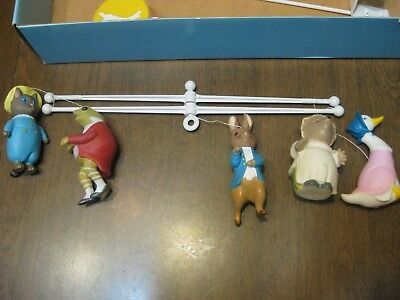 Vintage Beatrix Potter by Eden Musical Mobile 1976-1986 in Box Nursery Baby