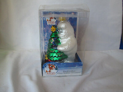 Kurt S. Adler Rudolph the Red Nose Reindeer Bumble Christmas Tree Glass Ornament