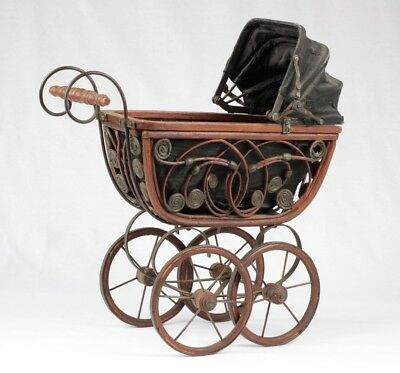 Vintage Babyhood Baby Carriage Buggy Stroller By Wonda
