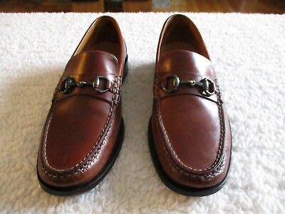 Men's COLE HAAN Brown Horse-bit Slip On Loafer Size 8.5M