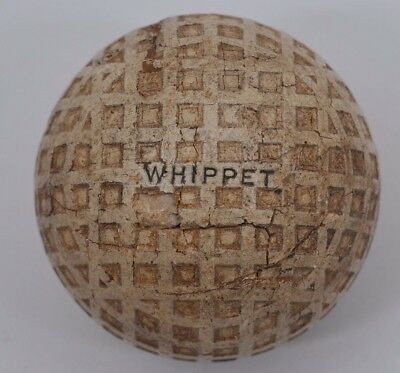 Vintage Antique Whippet Square Mesh Dimple Golf Ball