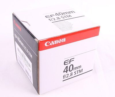 Canon EF 40mm f2.8 STM Original Box - EMPTY BOX ONLY