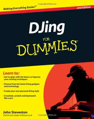 DJing For Dummies (For Dummies (Lifestyles Paperback)), Very Good Condition Book