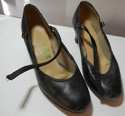 """Womens Selva size 5 Black one strap Dance Shoes 2"""" heels Formal Mary Janes  3"""