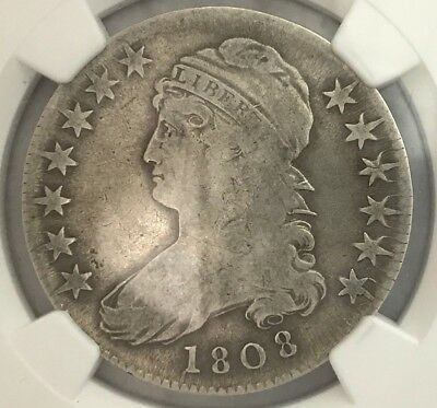 1808 50C Capped Bust Half Dollar NGC VG10