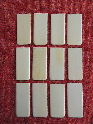 12 Vintage / Antique Piano Key Tops Great Condition Lot 7
