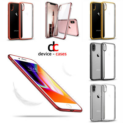 Luxury Ultra Slim Shockproof Silicon Clear Case Cover for iPhone 6 6S 7 8 Plus X