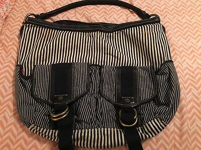 Marc Jacobs Authentic Striped Blue & White Bag - In Excellent Condition! RARE 👜