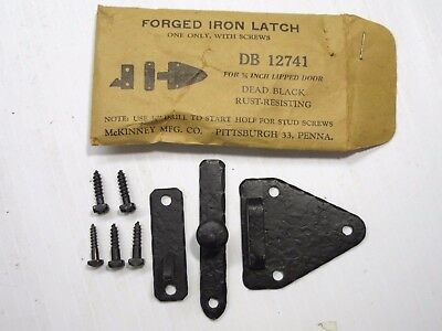 Qty 6 Vintage NOS McKinney Forged Iron Latch DB12741 Dead Black Rust Resisting