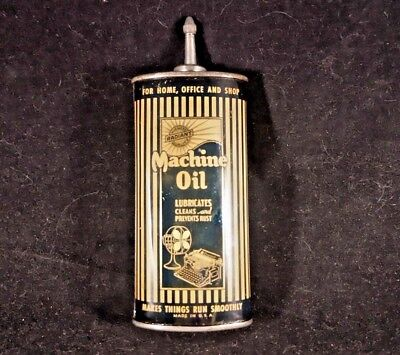 Vintage Radiant Machine Oil Handy Oiler Lead Top Spout 4 oz Rare Old Tin Can