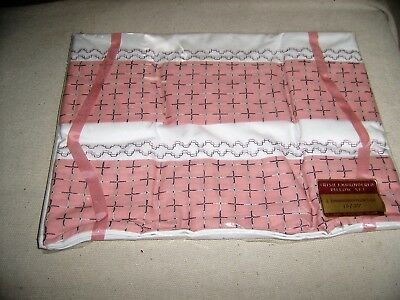 Vintage Irish Cotton Embroidered Pillow Cases,Still in Original Packaging