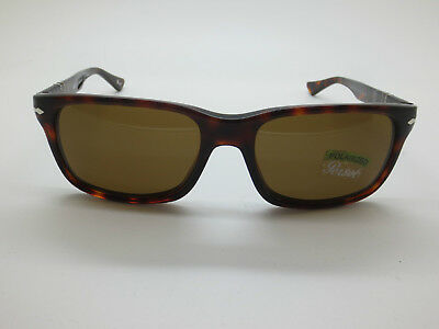 New Authentic PERSOL 3048-S 24/57 Havana Tortoise Polarized 58mm Sunglasses