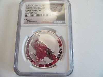 2016 P Australia 1$ Silver Wedge-tailed Eagle  NGC - Gem Uncirculated