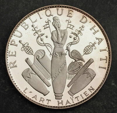 1970, Haiti. Huge Proof Silver 25 Gourdes Coin. (117gm!) Only 1,000 Pcs. Struck!