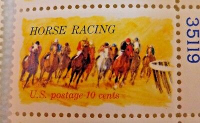 United States 10 Cents Horse Racing US Postage Stamps