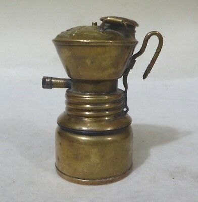 Antique John Simmons Baldwin Carbide Lamp.Brass.Made in USA.