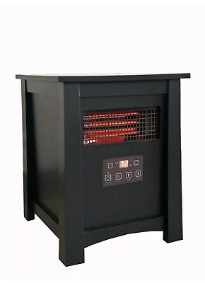 Wood Cabinet Heater HEAT UP TO 1000sq ft! Electric, 6-Element Infrared Quartz