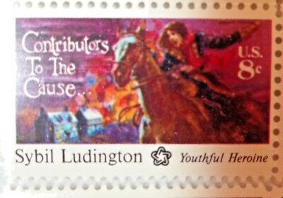 8 Cents Contributors To The Cause Sybil Ludington US Postage Stamps