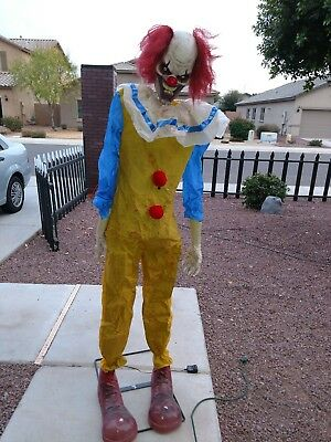 Spirit Halloween life size Twitching Clown Prop Animated Decoration scary