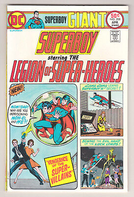 Superboy #208 - Dc (April 1975) - 7.0 Fn/vf Condition