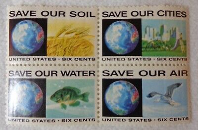 United States 6 Cents Save Our Soil Cities Water & Air US Postage Stamps