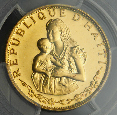 1973, Haiti(Republic). Proof Gold 500 Gourdes Coin. 915pcs! PCGS PR-68 Deep Cam!