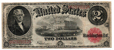 Problem Free Series 1917 $2 Legal Tender Note  Free shipping iside the USA