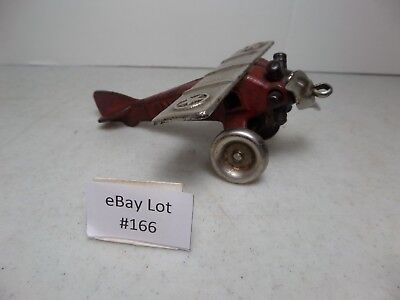 (Lot #166) Very Rare Vintage North and Judd Cast Iron Toy Lindy Airplane