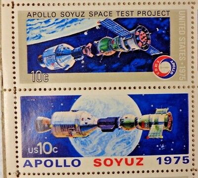 United States 10 Cents Apollo Soyuz Space Test Project 1975 US Postage Stamps
