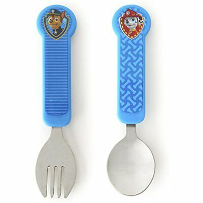 Munchkin PAW Utensils Patrol Toddler Fork And Spoon Set, Blue NEW NO TAX FREE