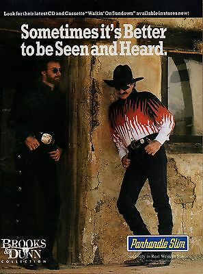 Brooks & Dunn Panhandle Slim Lot of 2 1994 Magazine Ad Picture Clipping