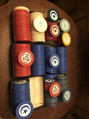 U.S. Clay Poker Chips Vintage Lot