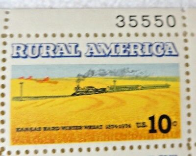 10 Cents Rural America Kansas Hard Winter Wheat US Postage Stamps