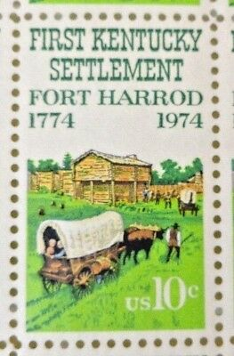10 Cents Fort Harrod First Kentucky Settlement 1774 - 1974 US Postage Stamps