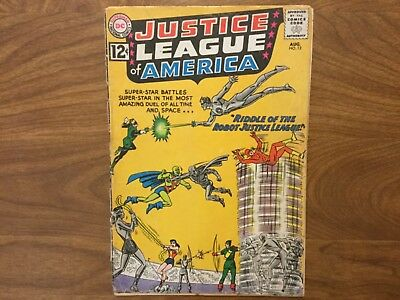 Justice League of America 13 Superman Batman Wonder Woman 1962