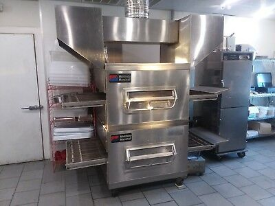 Middleby Marshall 32 Inch Ps200 Double Conveyor Oven, Split-Belt On Top Oven