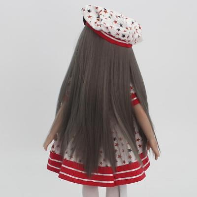 "Flaxen Long Straight Hair Wig for 18"" American Girl Dolls Making Repair ACCS"