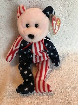 Rare TY Beanie Baby - 1999 Spangle with Pink Face - Retired Errors On Tag