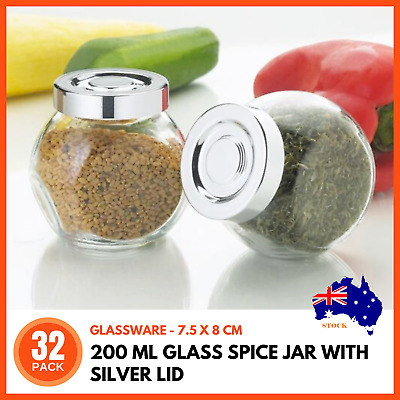 96 PCS HERB Spice Jars Label Clear Self Adhesive Canisters