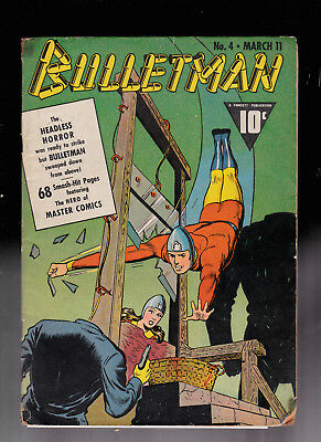Bulletman 4 Headless Man Guillotine Cover tape glue rounded corners Ray Miller