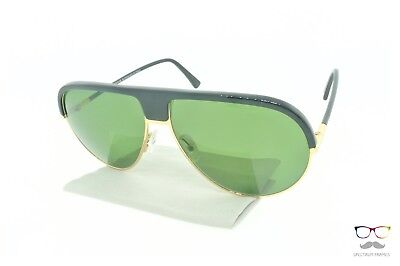 Andy Wolf Sunglasses Might A Black / Gold Pilot Frames / Green Lenses New