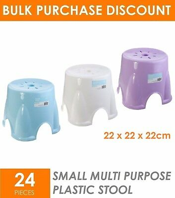 24 x SMALL Portable Plastic Step Stool Chair  Kids Toilet Training Adult Camping