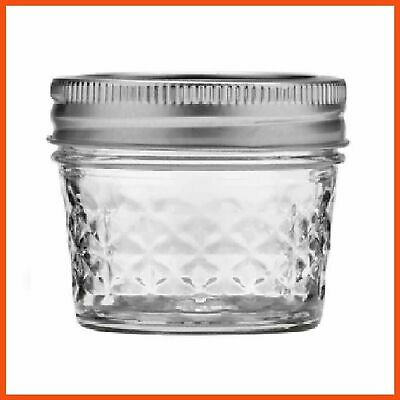 36 x 120ml Quilted Crystal Jelly Jars with Lid Preserving Conserve Lolly Jam Jar