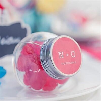 54 x Small Mini 50ml Glass Jars Bottle Lid Wedding Favours Lolly Jar Bomboniere