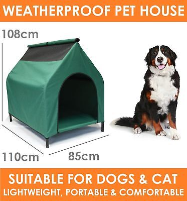 XLARGE Portable Waterproof Pet House Retreat - Elevated Dog Bed Cat Puppy Kennel